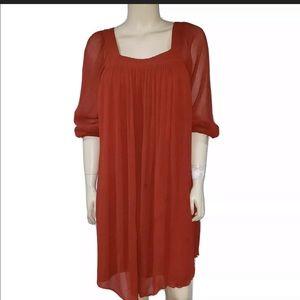 Massimo Dutti 3/4 sleeve Crepe Swing dress 👯♂️